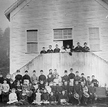 Image of N1133 - REMARKS:Gardiner school group, ca. 1888.