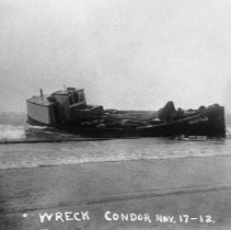 """Image of Wreck of the """"Condor"""", 1912"""