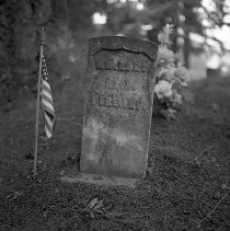 Image of N7436 - REMARKS:Four negatives: Two of Addie Brant and two of William Edes' grave; 1978-1979