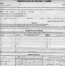Image of Clerk's Census Report