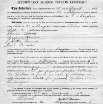 Image of School tuition contract