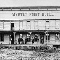 Image of N7552 - REMARKS:The Myrtle Point Hotel, Myrtle Point, Oregon, ca. 1910.  OBJECT DATE:ca. 1910