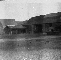 Image of N8174 - REMARKS:Barn and adjacent barn buildings, Hughes Estate, Monte Alto Ranch near Glide, Or. ca. 1915.  OBJECT DATE:ca. 1915