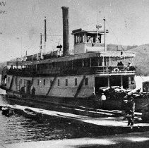 Image of N8233 - REMARKS:Sternwheel HARRISON owned by the O.W.R&N Co. Taken on Lake Coeur D'Alene, Idaho.