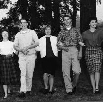 Image of N8537 - REMARKS:Sophomore class officers, Roseburg High School. ca. 1965.