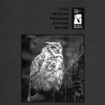 Image of Wildlife Program Report 1993