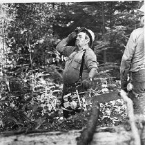 Image of Fred Applegate with chainsaw