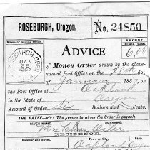 Image of Advice of money order