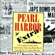 Image of A newspaper account of the United States' entry into World War II from the Eric C. Caren Collection. - Book