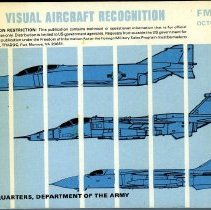 Image of Field Manual.Contents: Factors affecting Aircraft Detection and Recognition.--Recognition and Description of Aircraft.--Ground Attack Aircraft.--Bomber rAircraft.--Cargo/Transport Aircraft.--Observation/Utility Aircraft.--Helicopter.--Master Aircraft List. - Book