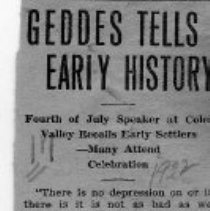 Image of Paul Geddes tells early history