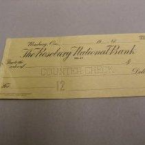 Image of L.993.8.2 - bank check