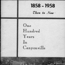 Image of 1858-1958, then to now - Booklet