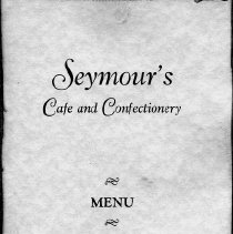 Image of Seymour's Cafe and Confectionery menu