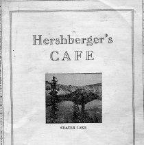 Image of Hershberger's Cafe menu