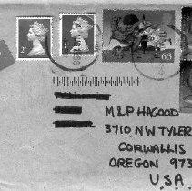 Image of Envelope addressed to Hagood