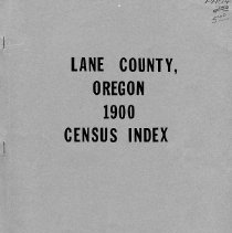 Image of Lane County, OR 1900 census index
