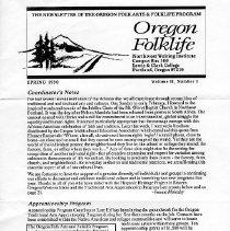 Image of Oregon folklife