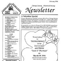 Image of Clatsop Historical Society Newsletter