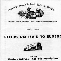 Image of Excursion train to Eugene