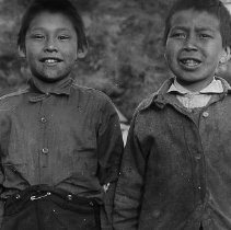 Image of LS117 - REMARKS:Two Alaskan Indian boys.  OBJECT DATE:ca 1920's
