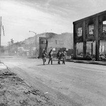 Image of N17202 - Street scenes in downtown Roseburg following the Blast of August 7, 1959