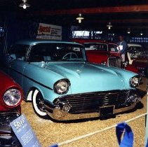 Image of N17247 - Car show during Douglas County fair in early 60's.  !957 Chevrolet hard top owned by Dave Welker