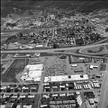 Image of N17281 - Aerial view of the Garden Valley Shopping Center, Roseburg, OR, June 15, 1974