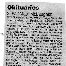 """Image of S. W. """"Mac"""" McLaughlin obituary"""