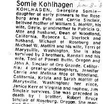 Image of Georgine Somie Kohlhagen obituary