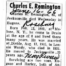 Image of Charles E. Remington obituary