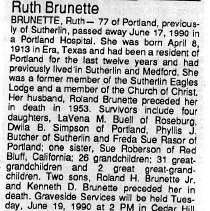 Image of Ruth Brunette obituary