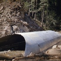 Image of S1056 - Culvert in place for road construction up Copeland Creek