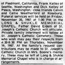 Image of Mary Elizabeth Boone page 2 obituary