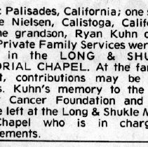 Image of Berthana G. Kuhn page 2 obituary