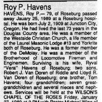 Image of Roy P. Havens obituary