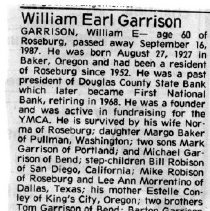 Image of William Earl Garrison obituary