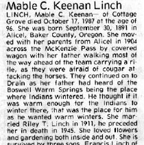 Image of Mable C. Keenan Linch obituary