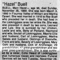 "Image of Mary ""Hazel"" Buell obituary"