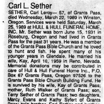 Image of Carl Leroy Sether obituary