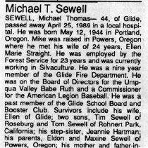 Image of Michael Thomas Sewell obituary