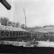 Image of C135 - Construction of Umpqua Community College north of Roseburg, OR.  November 13, 1970