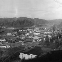 Image of C142 - View of Winston, OR looking down on city from hillside.  June 8, 1970