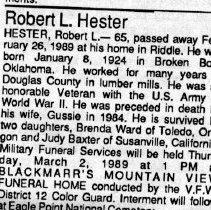 Image of Robert L. Lester obituary