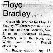Image of Floyd O. Bradley obituary
