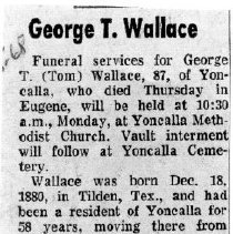 Image of George T. Wallace obituray