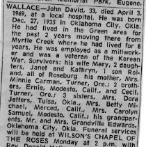 Image of John David Wallace obituary