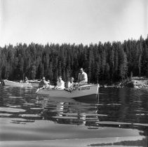Image of PC132 - Photos of people fishing at Diamond Lake on opening day of trout season in 1970