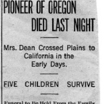 Image of Polly Ann Dean death article