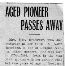 Image of Mary Brockway death article